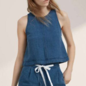 3/$45 - Aritzia Wilfred Octave Denim Crop Top